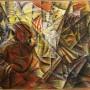 1. BALDESSARRI Roberto Marcello, Dinamismo di una strada + Folla + Luci, 1916, Roma, Futurism