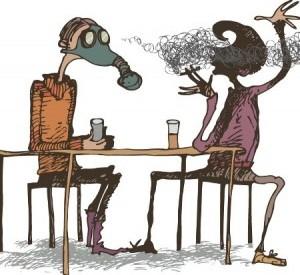 у итальянцев принято курить в общественных местах