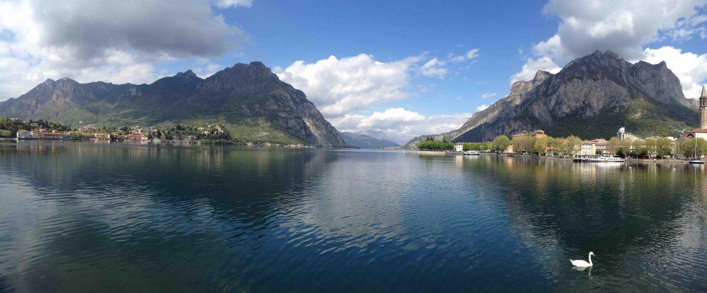 Панорамный снимок озера Комо