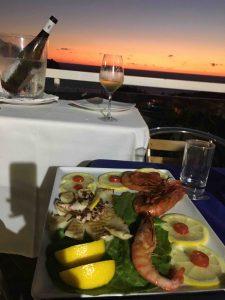 рыбный ужин в Палинуро