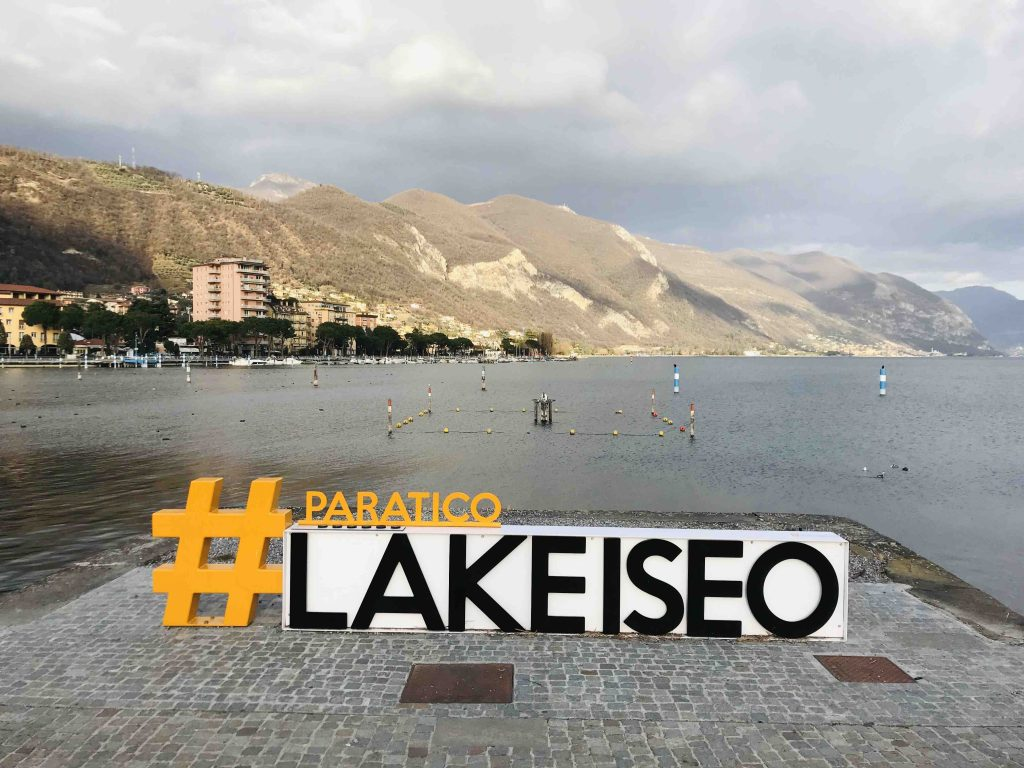 Озеро Изео. Надпись