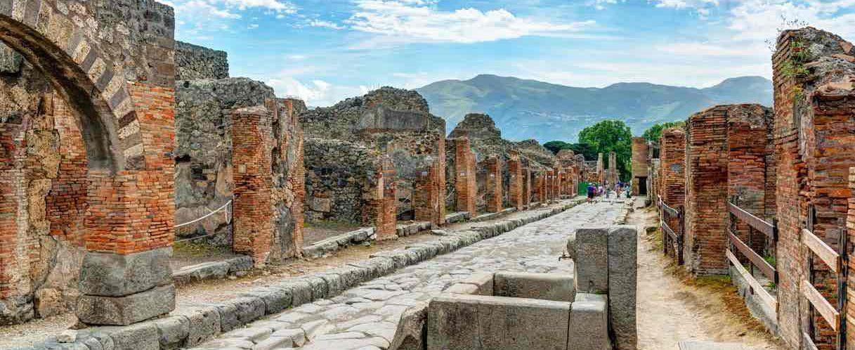 Помпеи после извержения