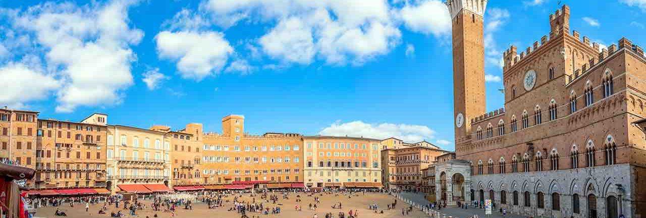 Панорама над Сиеной во время экскурсии